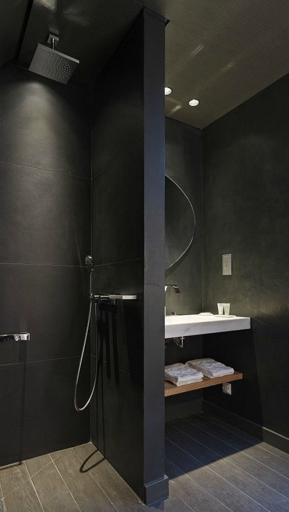 Awesome Badkamer Zwarte Tegels Contemporary - Modern Design Ideas ...