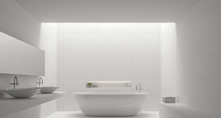 lichtkoepel in de badkamer