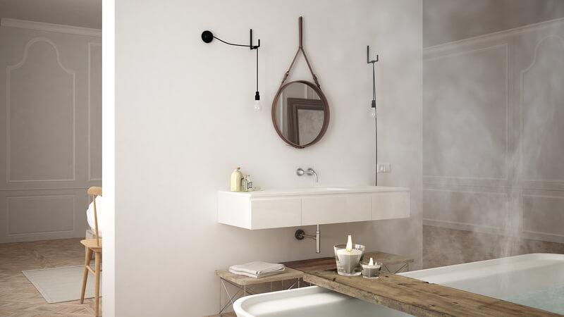 scandinavische badkamer wit