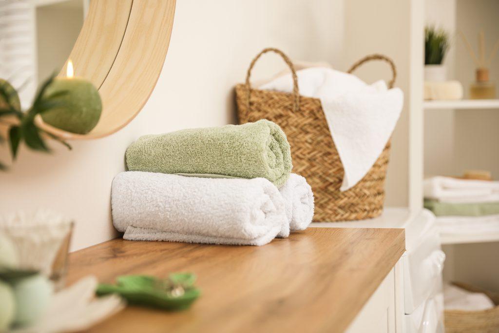 handdoeken oprollen
