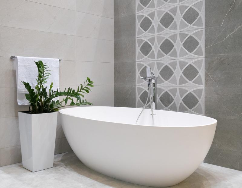 zachte kleuren in de badkamer