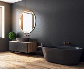 zwarte badkamer