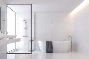 schakelmateriaal in de badkamer