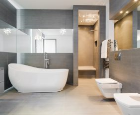 verlichting in de badkamer