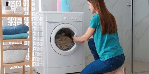 wasmachine in badkamer